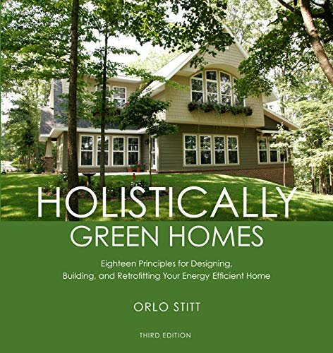 Cover image for Holistically Green Homes: Eighteen Principles for Designing, Building, and Retrofitting Your Energy Efficient Home